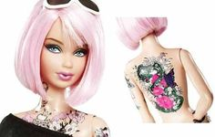 Barbie tattooed