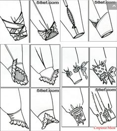 Варианты оформления низа рукава. +