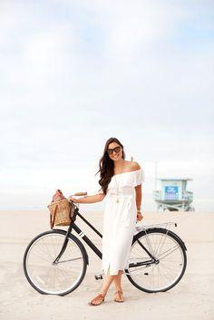 Bike Ride to Santa Monica - Bardot dress // Solé Bicycles Bike c/o // Julie Vos jewelry // Sam Edelman sandals // Proenza Schouler bag May 4, 2017