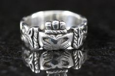 Men's Claddagh Ring by TPJeweler on Etsy, $195.00