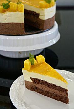 Küchenecke: Mango Schokoladencreme-Kuchen