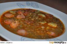 Čočková polévka s klobásou a bramborem * Chana Masala, Quinoa, Chili, Soup, Beef, Ethnic Recipes, Bulgur, Meat, Chile