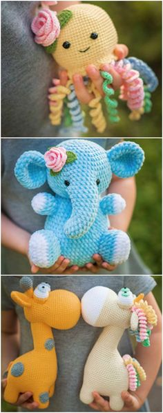 We've rounded up some adorable Crochet Animals Patterns and we know you are going to love them. Crochet Elephant Pattern, Crochet Teddy Bear Pattern, Crochet Octopus, Giraffe Pattern, Crochet Mouse, Crochet Unicorn, Crochet Animal Patterns, Stuffed Animal Patterns, Crochet Patterns Amigurumi