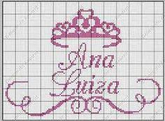 Resultado de imagem para alfabeto com coroa em ponto cruz para toalha de boca