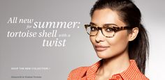 @warbyparker Summer Collection: Tortoise shell with a twist