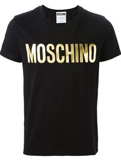 Moschino Logo Print T-shirt Printed Sweatshirts, Printed Shirts, Hoodies, T Shirt Vest, Tee Shirts, Camisa Nike, Cotton Logo, Black Cotton, Moschino
