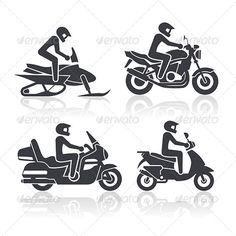 Realistic Graphic DOWNLOAD (.ai, .psd) :: http://hardcast.de/pinterest-itmid-1006108200i.html ... Motorcycle Icons Set ...  black, cycle, helmet, icon, isolated, motorbike, motorcycle, racer, ride, rider, scooter, set, silhouette, snowmobile, sport, tour, transport, transportation, vector, wheel, white  ... Realistic Photo Graphic Print Obejct Business Web Elements Illustration Design Templates ... DOWNLOAD :: http://hardcast.de/pinterest-itmid-1006108200i.html