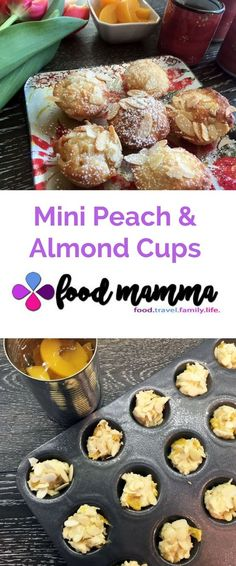 These mini peach and almond cups are little morsels of sunshine. Bread Recipes, Snack Recipes, Snacks, Almond Nut, Mini Muffin Pan, Christmas Entertaining, Mini Muffins, Healthy Living, Sunshine