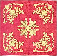 Hawaiian Quilt Red & Gold