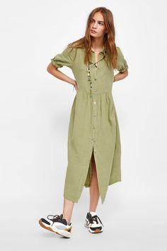 bf6daa3d371 Image 1 of LINEN DRESS from Zara Linned Kjoler, Kjole Nederdel,  Studenterbalkjoler, Midi