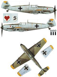 Messerschmitt Bf 109E3 7.JG26 (W7+I) Josef Burschgens WNr 1159 France 11th Aug 1940