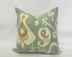 Decorative Throw Pillow Ikat Pillow CoverToss by JuliaSherryHome Green Pillow Covers, Green Pillows, Ikat Pillows, Toss Pillows, Throw Pillow Covers, Accent Pillows, Pillow Forms, Pillow Inserts, Decorative Pillow Covers