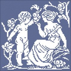 The four seasons: Autumn | Chart for cross stitch and filet crochet.