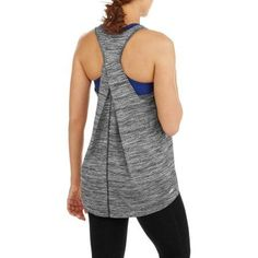 d2f92e838108e Danskin Now - Women s Active Textured Allover Mesh Tank With Back Detail -  Walmart.com