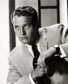Paul Newman photographed by Bert Six, 1957.