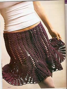 sexy flirty crochet skirt-- love this one but need to line it or something...right?