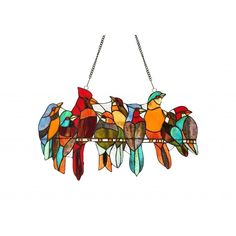 Chloe Tiffany-style Stained Bird Window Panel                                                                                                                                                                                 More