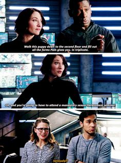 Kara & Mon-El's reactions are  awesome --Supergirl S2E13