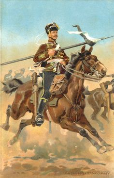 A hussar from the 4th Regiment during a mounted attack.