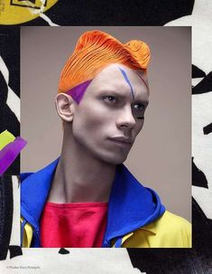 The Color Coded Editorial for Vision Magazine is Bursting with Color #hair trendhunter.com