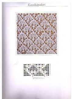 "Photo from album ""Книга Haapsalu sall - Хаапсалусские шали. Lace Knitting Stitches, Crochet Stitches Patterns, Knitting Charts, Lace Patterns, Loom Knitting, Stitch Patterns, Knitting Projects, Tricks, Couture"