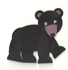 Bear - Punch Art Blog Hop - Wednesday Just Oval, Circle and small Heart punches and of course googly eyes.