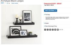 Black Ledges @ Crate & Barrel
