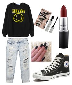 """Untitled #7"" by andraconstantinescu on Polyvore featuring Chicnova Fashion, Wet Seal, Converse and MAC Cosmetics"
