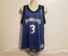 fb70f7a4b Vintage NBA Minnesota Timberwolves Stephon Marbury  3 Champion Jersey Size  44