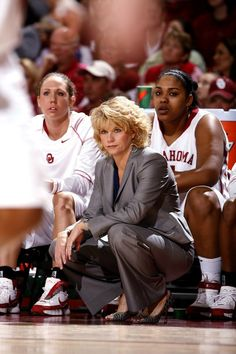 Head Coach Sherri Coale watches her team play in the first half as the University of Oklahoma (OU) women's basketball team plays  Oklahoma State University (OSU) in the Lloyd Noble Center in Norman, Oklahoma on Saturday, February 23, 2008.   BY STEVE SISNEY, THE OKLAHOMAN
