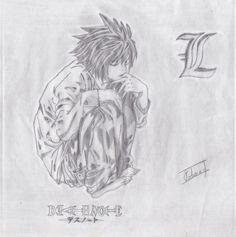 Ryuzaki (L)  Copy drawn by my