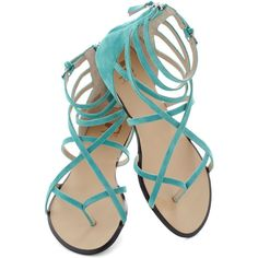 Joe's Jeans Footwear Crossing Waters Sandal in Aqua ($50) ❤ liked on Polyvore featuring shoes, sandals, flats, sapatos, blue, flat pumps, ankle tie sandals, aqua blue shoes, ankle strap shoes and blue flats