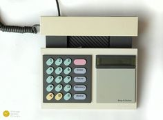 NICE 80s BANG & OLUFSEN BeoCom 2000 Telephone White - Danish modern analog vintage