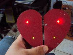 Magnetic LED heart for your Valentine