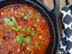 Vegan Chili, Vegetarian Chili, Vegetarian Recipes, Healthy Recipes, Healthy Food, Jamie Oliver, Chilli Sin Carne, Healthy Diners, Pesco Vegetarian