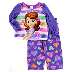 d149cfe282 Amazon.com  Sofia the First Girls Poly Pajamas (2T