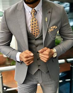 Austin Gray Patterned Slim-Fit Suit brabion - Men Suits - Ideas of Men Suits Costume Slim, Mode Costume, Blazer Outfits Men, Stylish Mens Outfits, Best Suits For Men, Cool Suits, Mens Fashion Suits, Mens Suits, Mens Casual Suits
