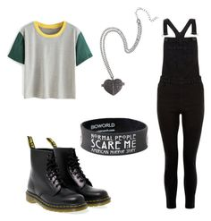 """""""Untitled #214"""" by ninaellie on Polyvore featuring New Look and Dr. Martens"""