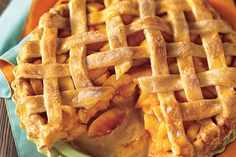 Find the recipe for Peach Lattice Pie and other fruit recipes at Epicurious.com