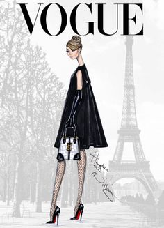 Vogue fashion illustration | Fashion sketches | Christian Louboutin |