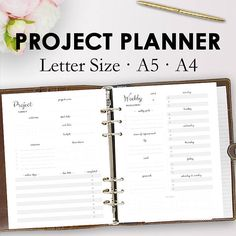 Project Planner Printable, Productivity Planner Printables, Complete Project Management, Productivity Planning PDF https://www.etsy.com/listing/511778134