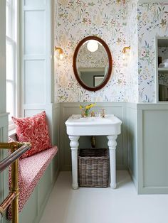 bathroom decor ideas, bathroom tiles, modern farmhouse bathroom - Lilly Green Home Interior, Trendy Bathroom, Bathroom Wallpaper, Home Decor, Bathroom Interior, Amazing Bathrooms, Modern Farmhouse Bathroom, Bathroom Decor, Tile Bathroom