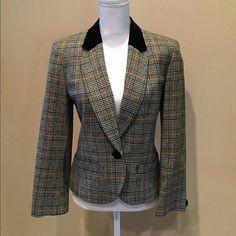 Pendleton Women's Plaid 100% Virgin Wool Blazer Jacket