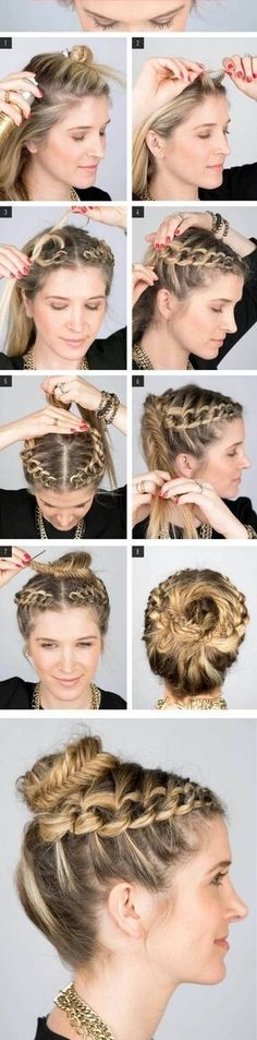 Image via We Heart It https://weheartit.com/entry/175340258 #braid #bun #diy #fishtail #hair #hairstyle #plait #tutorial