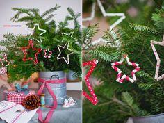 coloresdemialma: świąteczne dekoracje DIY - rurkowe gwiazdy