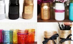 ways to color mason jars, crafts, decoupage, mason jars, painting, repurposing upcycling