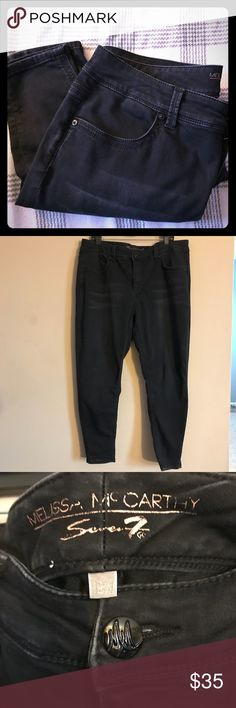 🎉SALE🎉Melissa McCarthy Seven7 Black Skinny Jeans Melissa McCarthy Black faded wash skinny jeans. Still in great condition. Melissa McCarthy Seven7 Jeans