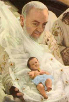 St. Padre Pio - beautiful Christmas image