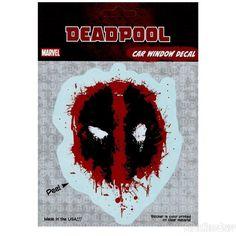 Deadpool Splattered Symbol Decal