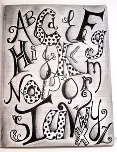 creative lettering - just what I needed for Messy Church April Doodle Alphabet, Doodle Art Letters, Hand Lettering Alphabet, Doodle Lettering, Creative Lettering, Lettering Styles, Calligraphy Letters, Letter Art, Graffiti Alphabet